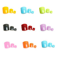 500Pcs Colorful Toe Tips Flase Fake Nails for Nail Aart Decoration Pedicure Tips