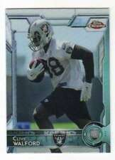 2015 Topps Mini Chrome Refractor RC #156 Clive Walford Raiders