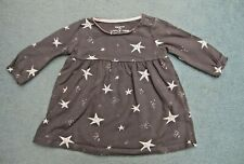 Baby Girls Grey Dress with Star Pattern Age 0-3 Months SUPERB CONDITION