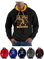 Eat Sleep Boxing Hoodie Sweatshirt with Gloves Headgear - Smartphone Compatable