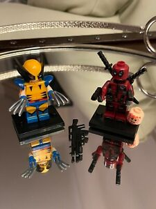 Marvel Comics Wolverine And Deadpool Building Blocks MiniFigures Lego Compatible