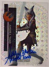 2015 Topps Star Wars High Tek Ahsoka Tano Ashley Eckstein Autograph Auto 25/75