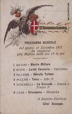 # militari WWI - 75° REGGIMENTO FANTERIA- PROGRAMMA MUSICALE 1917