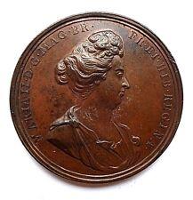 More details for death of mary 1694 bronze medal/medallion ( eimer 362) aunc