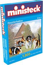 Ministeck Pixel Puzzle (31330): bébé animaux de compagnie ( 4 En 1 ) 1800 pièces