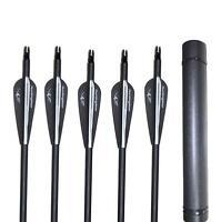 "12/18/24Pcs New Arrows Archery Practice Hunting 31"" 500Spine Carbon Fiber Quiver"