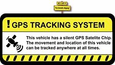 GPS Tracking System Safety Decal Sticker Warning Anti Theft Auto Car Truck