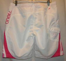 O'Neill Hot Pink & White Board Shorts, Size 11 Juniors Beach Surf Boat Jet Ski