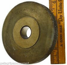 "Vintage INDUSTRIAL SPUR GEAR 4"" dia. w/ 192 Teeth ""MANHATTAN GEAR & INTR. Arc T"""