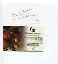 Mary T. Meagher 1984 US Olympic Gold Bronze Swimmer HOF Signed Autograph COA