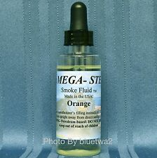 Scented Mega Steam Smoke Fluid ORANGE For MTH G O O27 N Steam Engines Cabooses