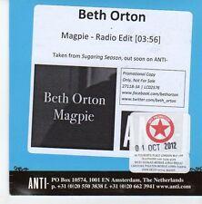 (EB257) Beth Orton, Magpie - 2012 DJ CD