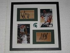 Keith Appling Adreian Payne signed floorboards Michigan State Basketball COA