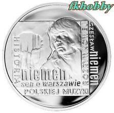 Poland 2009 silver 10 zl Czesław Niemen Music Composer