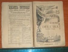 BIBLIOTECA UNIVERSALE EDIZIONI SONZOGNO 1895 - DELL'IRA LIBRI TRE Seneca - n.234