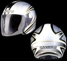casco jet fibra moto scooter helmet casque Marushin c147 Koubai white