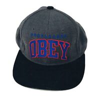 Classic Obey Propaganda Dark Gray Black Adjustable Snapback Cap Hat
