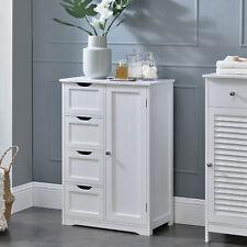 en.casa® Badezimmerschrank Badschrank Standschrank Schrank Kommode 81x55x30cm