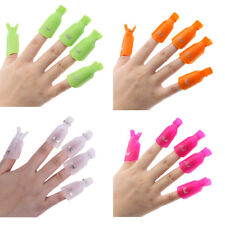 10pcs Orange Plastic Nail Art Soak Off Clip Cap UV Gel Polish Remover WrapTools