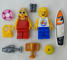 NEW LEGO SURFER & LIFEGUARD WEDDING COUPLE MINIFIGS minifigures bride groom