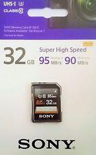 Sony 32GB SD SDHC UHS-1 U3 class 10 SD Karte 32GB SDHC Sony SD Karte NEU&OVP