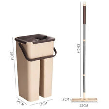 Flat Squeeze Mop Bucket Combo Free Washing Self Wet / Dry Usage Cleaning Tool