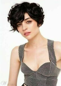 Hot Sell Wig New Fashion Elegant Women's Short Dark Brown Wavy Natural Full Wigs