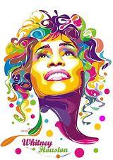 "PSYCHEDELIC POP ART WHITNEY HOUSTON A4 GLOSSY PHOTO POSTER 11.25"" X 8.25"" NEW"