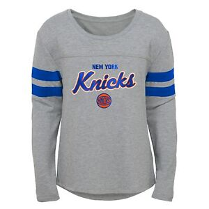 Outerstuff New York Knicks NBA Girls Kids (4-6X) & Youth (7-16) Grey Dolman Tee