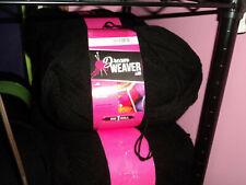 1 Pound Dream Weaver 4 Ply Black Skeins yarn 100% Acrylic 16Oz / Lb