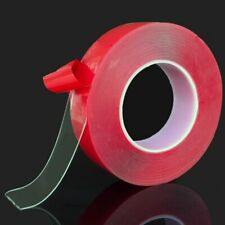 Silicone Double Side Tape Sticker Transparent Red for Car High Strength No Trace