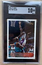 1996-97 Topps #217 Ray Allen RC SGC 10 Mint PSA HOF Rookie