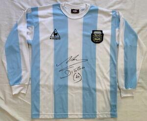 Diego Maradona signed Argentina soccer football World Cup jersey shirt BECKETT