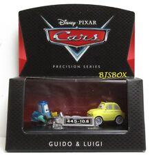Disney Pixar Cars Precision Series GUIDO & LUIGI Vehicles & Collector Case New