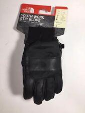 The North Face Winter Glove Youth Work Etip Sz L Kids Black Waterproof HyVent