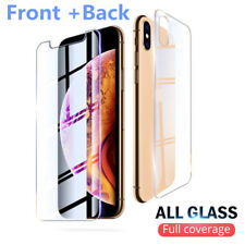 Front +Back Full Body Tempered Glass Screen Protector For iPhone 11 7 XR 8 6S 5S