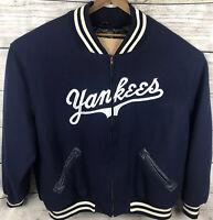 Mitchell & Ness Throwback Varsity Jacket New York Yankees Wool Sz 64 5XL