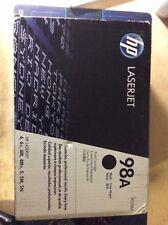 HP 98A 92298A GENUINE Black LaserJet Toner Cartridge NEW FACTORY SEALED 4M 5M +