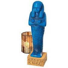 Nehkbet Shabti Dolls Egyptian Funerary Burial Figurine Glazed Blue Tomb Statue