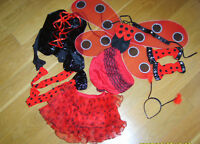 LADIES SEXY LADYBIRD LADY BIRD BUG INSECT FANCY DRESS COSTUME XS NEW***