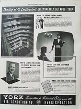 1938 York headquarters mechanical cooling air conditioning Refrigeration ad