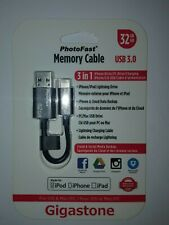 APPLE LIGHTNING 32GB USB 3 Memory Cable for iPhone iPad & iPod NEW by Gigastone