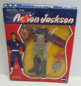 MEGO 1971 ACTION JACKSON FIGURE FISHING OUTFIT no. 1113 UNUSED IN PACKAGE