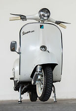 STUNNING VINTAGE VESPA SCOOTER #775 RETRO MODS BIKE CANVAS PICTURE A1 WALL ART