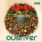 40cm Christmas Party Decoration Door Wall Window Green Wreath Ball Morvah S43640