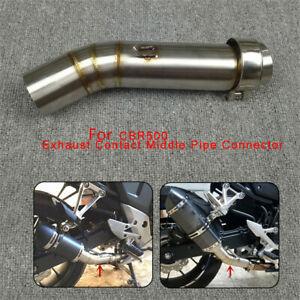 Motorcycle Exhaust Middle Mid Pipe Connector For HONDA CBR400/X CB500X/R 2013-16
