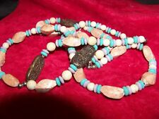&Beads Are Copper Large Beads Necklace ;Man Made & Stone