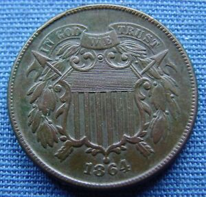 """*VERY NICE LOOKING 1864 TWO CENT """"BROWN"""" - ESTATE FRESH*"""