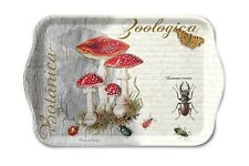 Tablett, Tray FLY AGARIC AND BEETLE 13x21cm by Ambiente | Fliegenpilz, Käfer