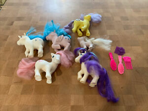 My Little Pony G1 Fair Condition Ponies Vintage Lot of 6 With Combs